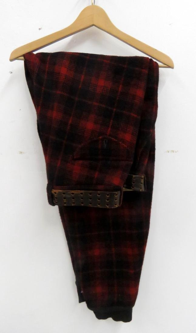 LOT (2) INCLUDING RED AND BLACK PLAID INSULATED HUNTING - 2