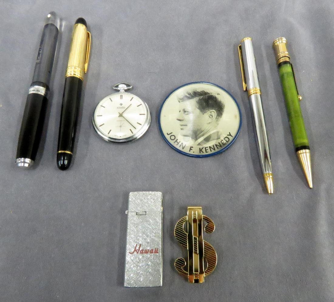 LOT INCLUDING FOUNTAIN PEN AND MECHANICAL PENCILS,