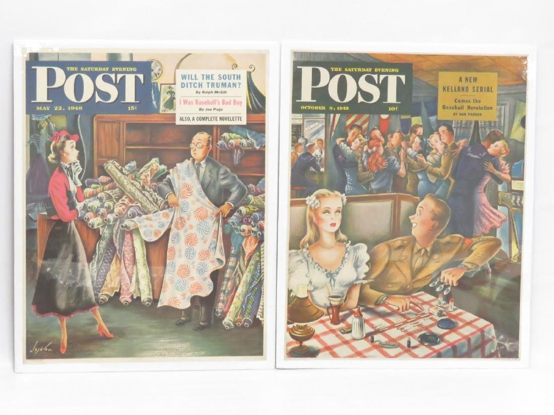 LOT (7) VINTAGE LITHOGRAPHIC POSTERS, SATURDAY EVENING - 3