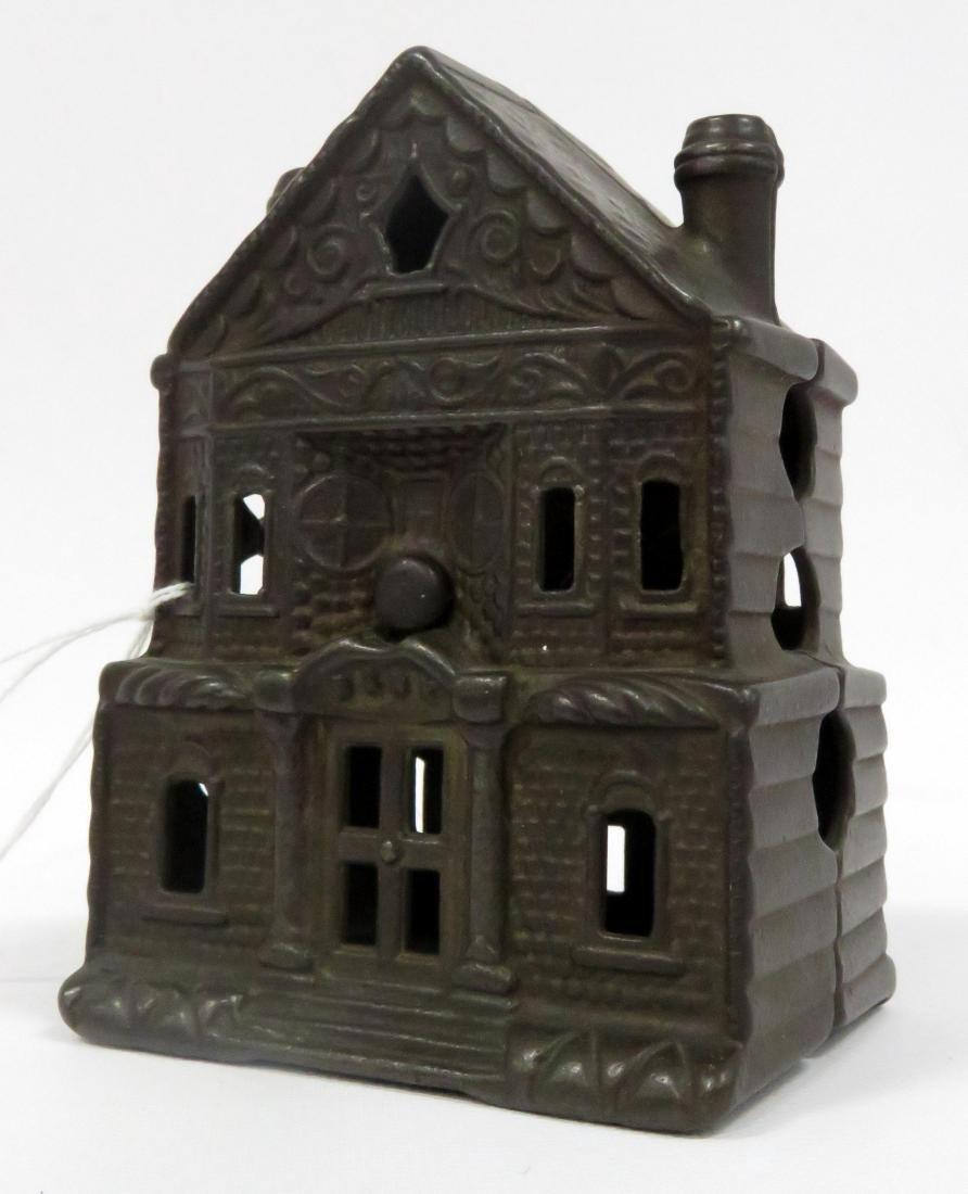 J & E STEVENS CAST IRON VICTORIAN HOUSE STILL BANK.