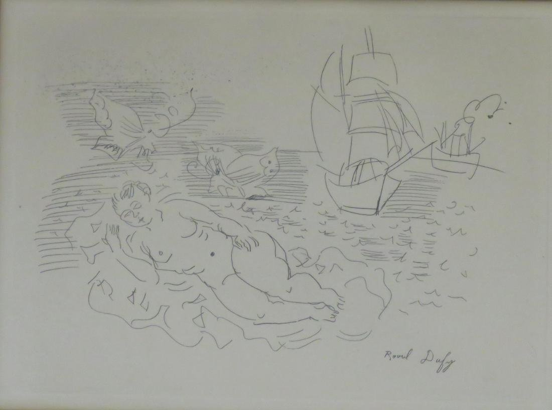 """RAOUL DUFY (FRENCH 1877-1953), ETCHING, """"BAIGNEUSE"""", - 2"""