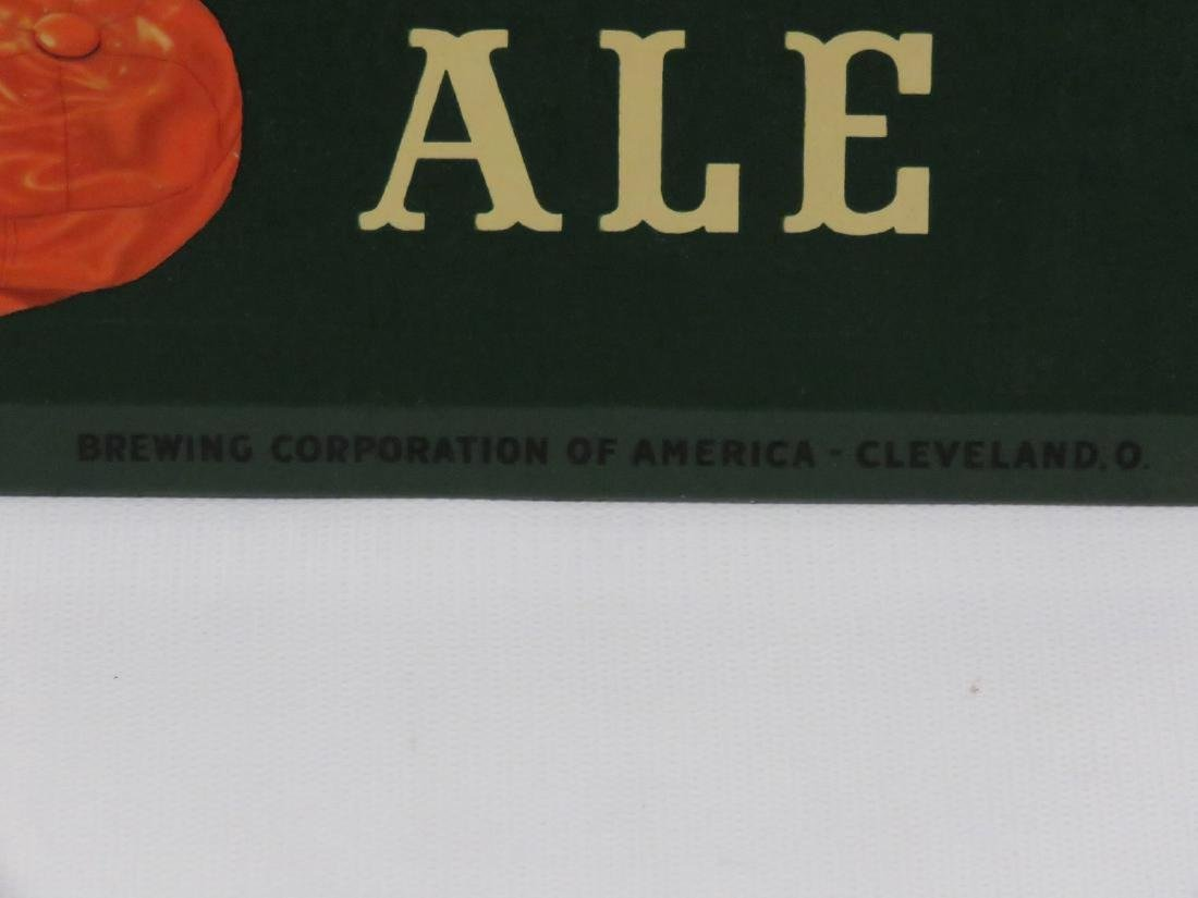 """LOT (2) INCLUDING LITHOGRAPH ON METAL, """"CARLINGS ALE"""" - 2"""