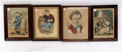 LOT 4 CURRIER  IVES LITHOGRAPHS INCLUDING THE