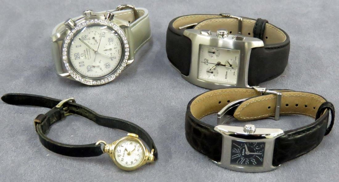 LOT (4) DESIGNER STYLE QUARTZ WRISTWATCHES INCLUDING H.