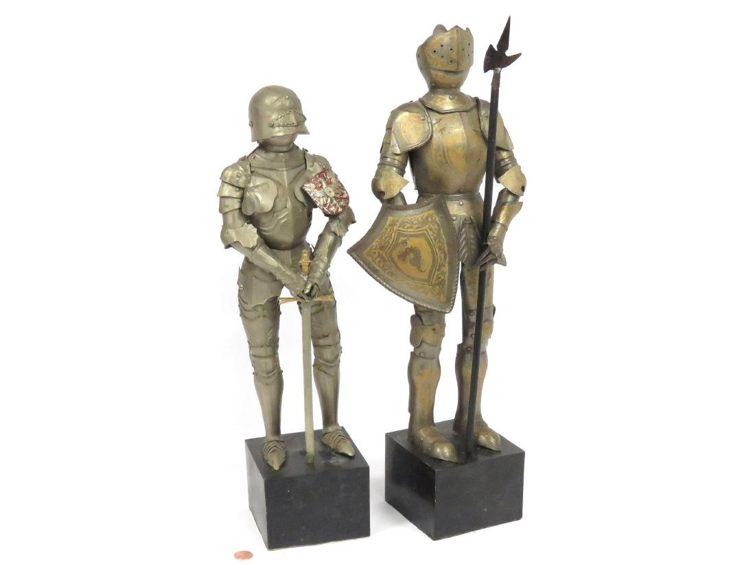LOT (2) ARMORED FIGURES OF KNIGHTS. HEIGHT 18 1/2""