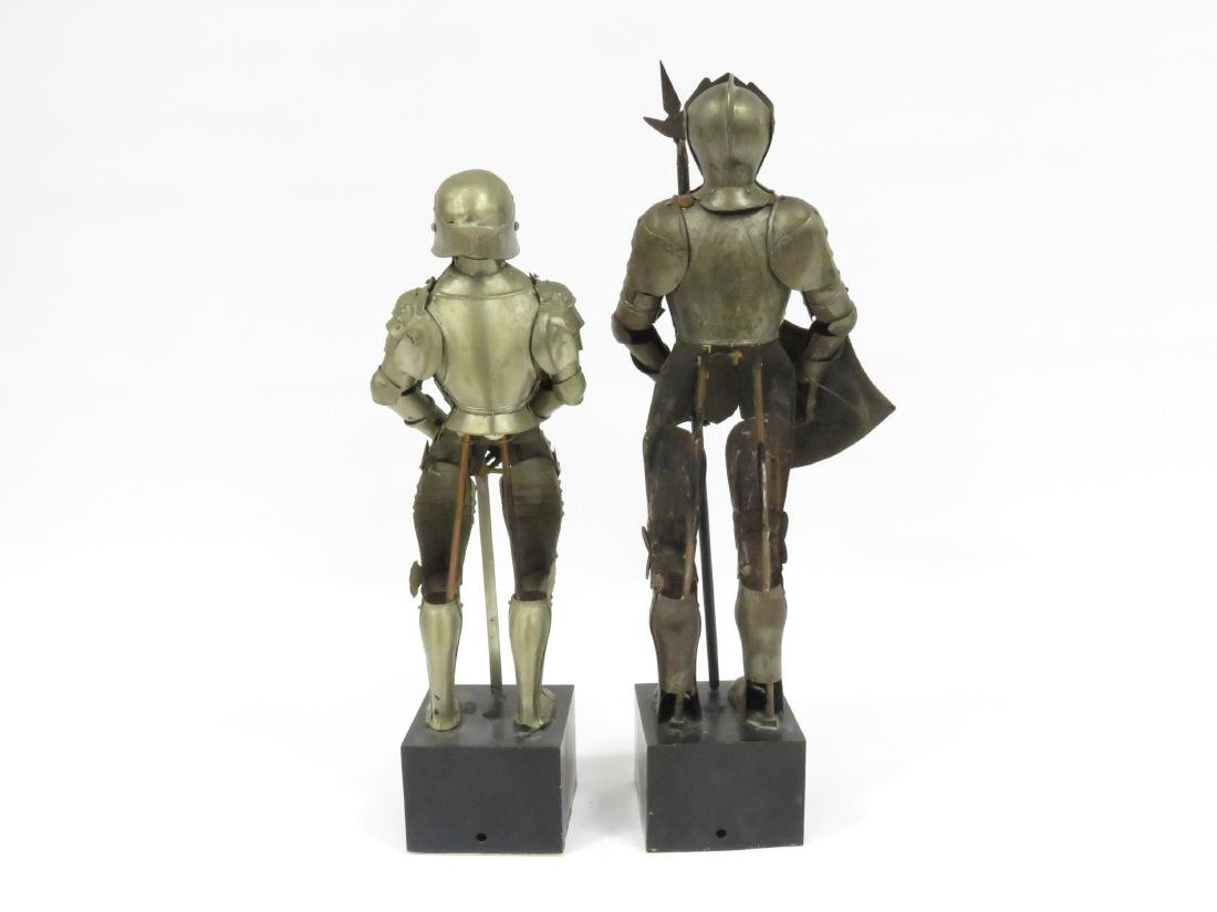 "LOT (2) ARMORED FIGURES OF KNIGHTS. HEIGHT 18 1/2"" - 3"