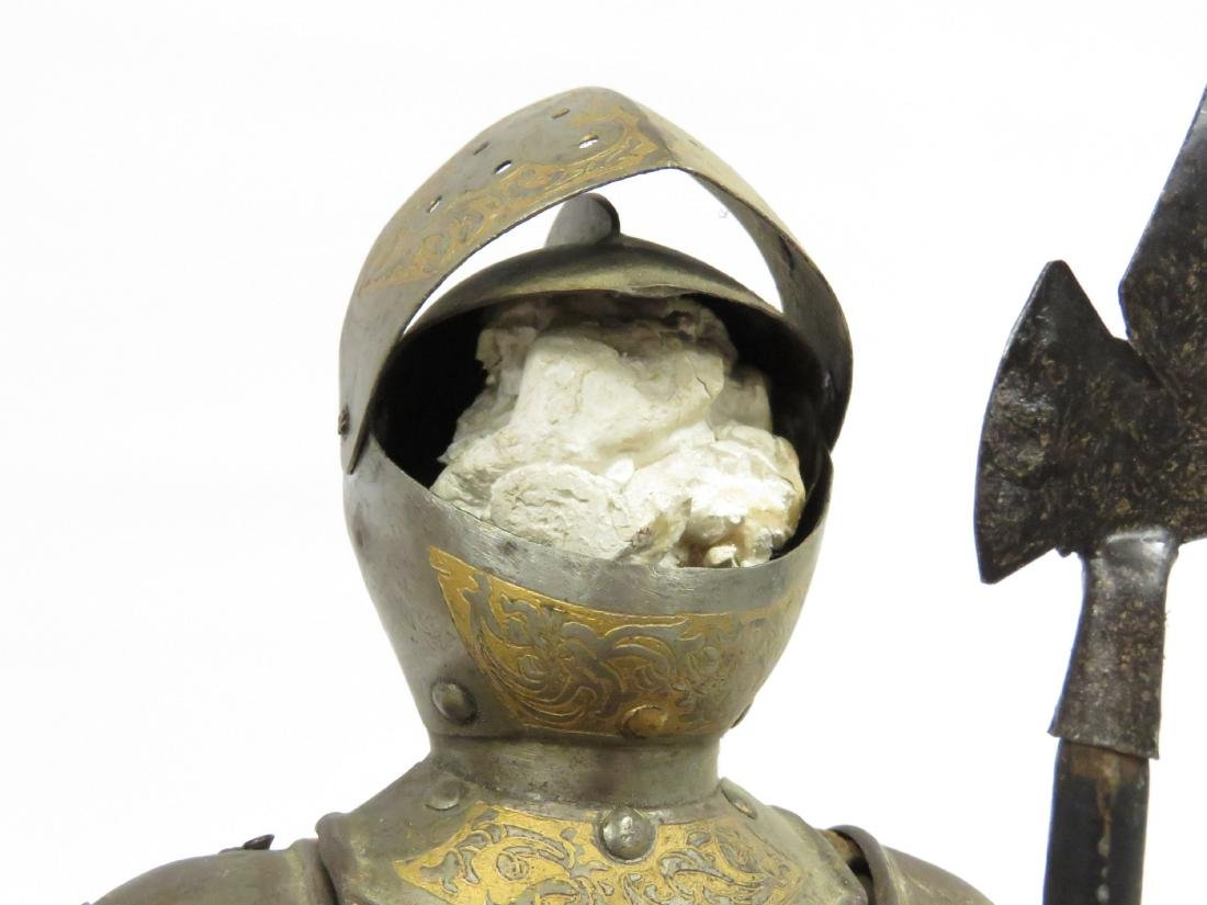 "LOT (2) ARMORED FIGURES OF KNIGHTS. HEIGHT 18 1/2"" - 5"