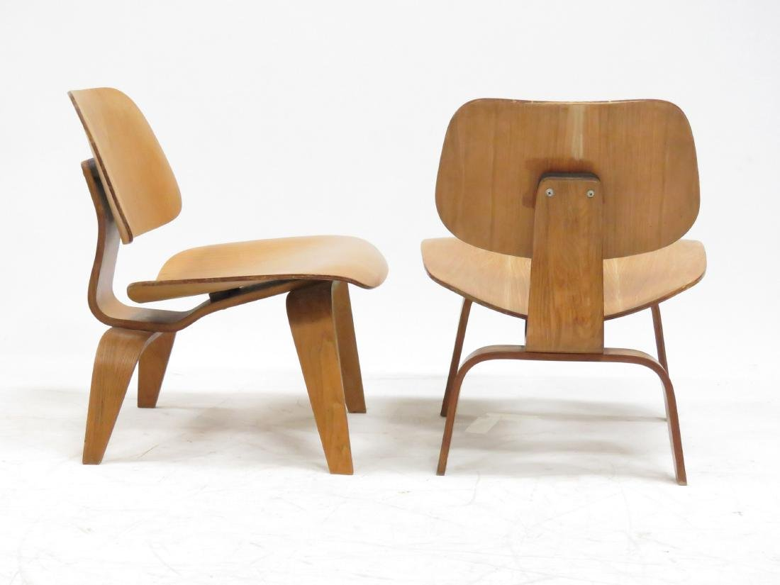 PAIR CHARLES & RAY EAMES LCW LAMINATED PLYWOOD LOUNGE - 2