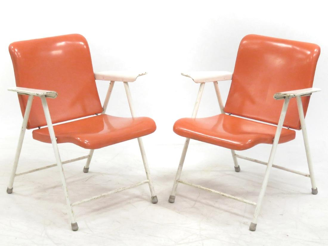 PAIR RUSSEL WRIGHT FOR SAMSON CHAIR FOLDING METAL