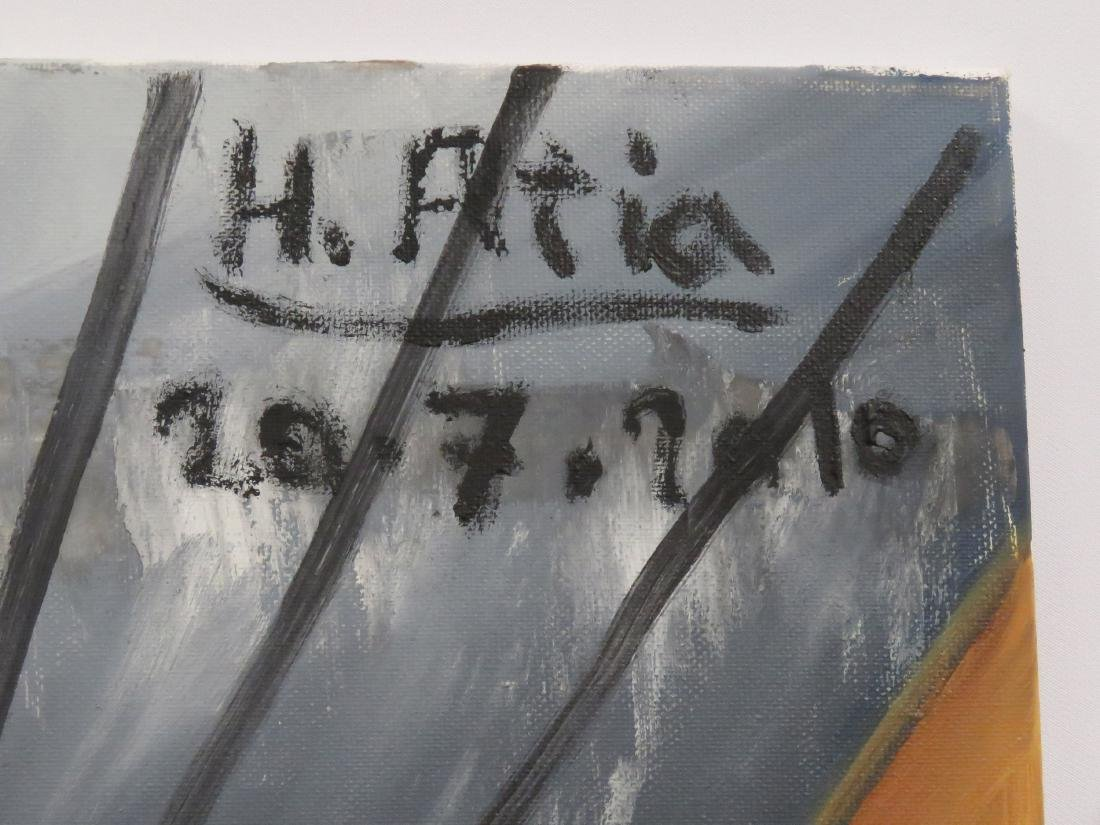 HASSAN ATIA (GERMAN 1953-), OIL ON CANVAS, - 2