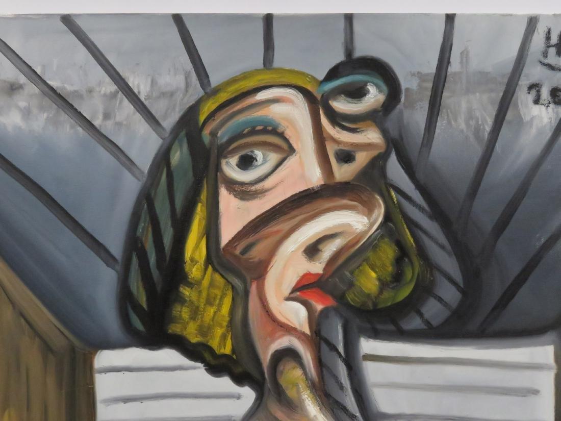 HASSAN ATIA (GERMAN 1953-), OIL ON CANVAS, - 3