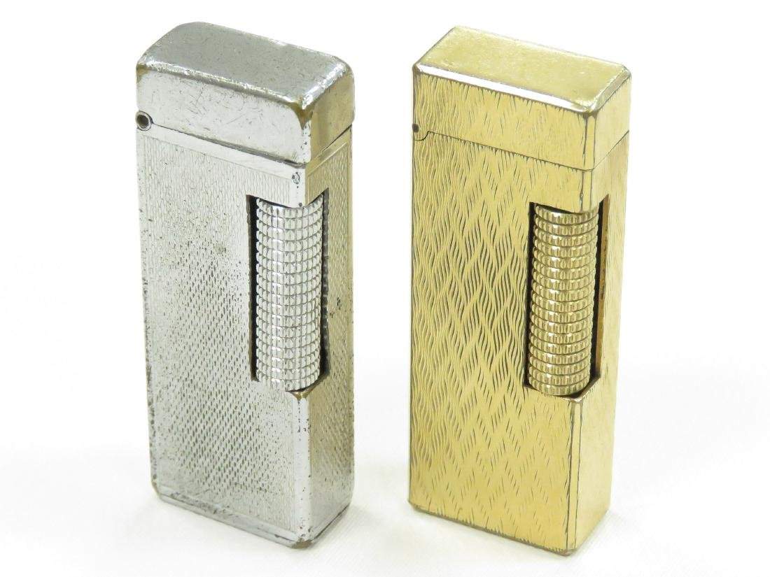 LOT (2) VINTAGE DUNHILL ROLLA LITE CIGARETTE LIGHTERS.
