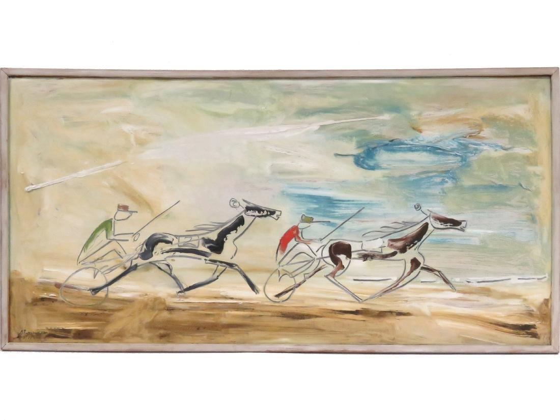 STERLING BOYD STRAUSER (AMERICAN/PA 1907-1995), OIL ON