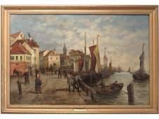 R. MONTI (CONTINENTAL 19TH CENTURY), OIL ON CANVAS,