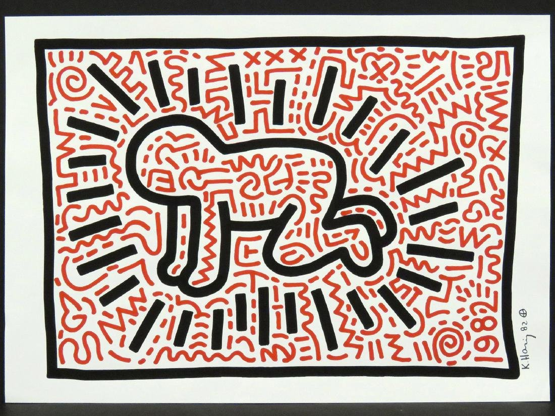 ATTRIBUTED TO KEITH HARING (AMERICAN 1958-1990), MARKER