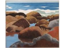 ROBERT ANGELOCH (AMERICAN 1922-2011), OIL ON PANEL,