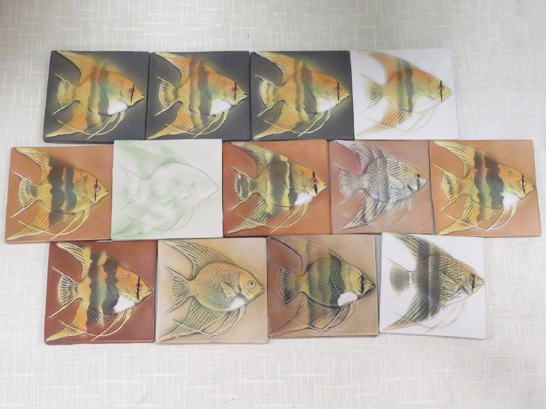 LOT (13) SURVING STUDIOS HIGH RELIEF CERAMIC ANGEL FISH