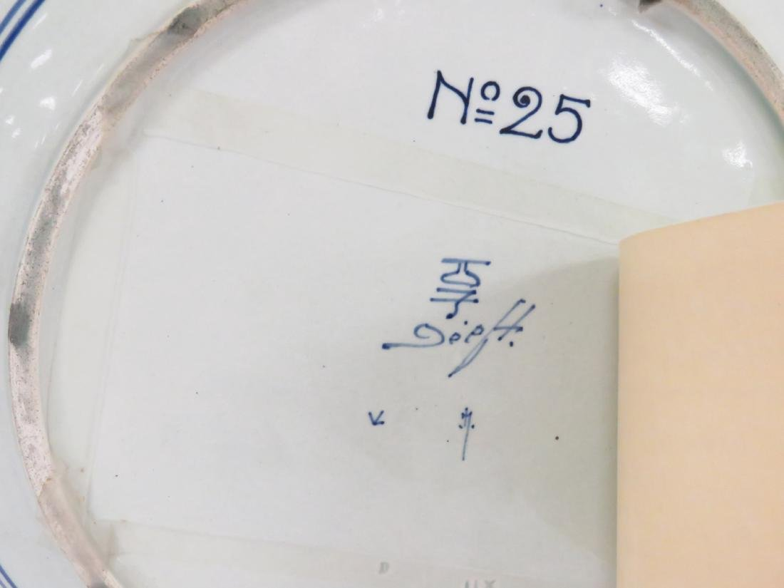 DUTCH GOUDA DECORATED COMMEMORATIVE PLATE, SIGNED, #25, - 5