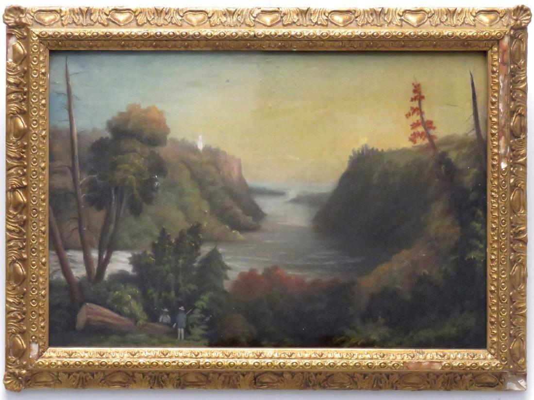 AMERICAN SCHOOL (19TH CENTURY), OIL ON ARTIST BOARD,