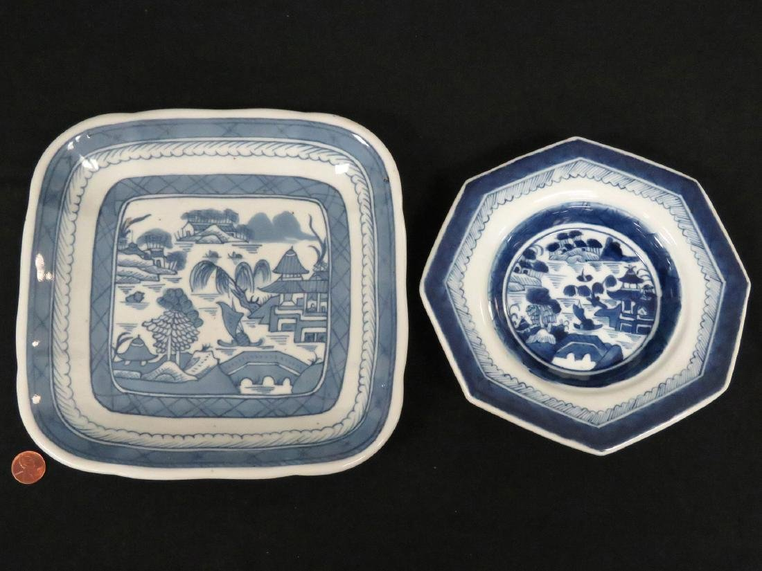 LOT (2) CHINESE EXPORT PLATES INCLUDING OCTAGONAL AND