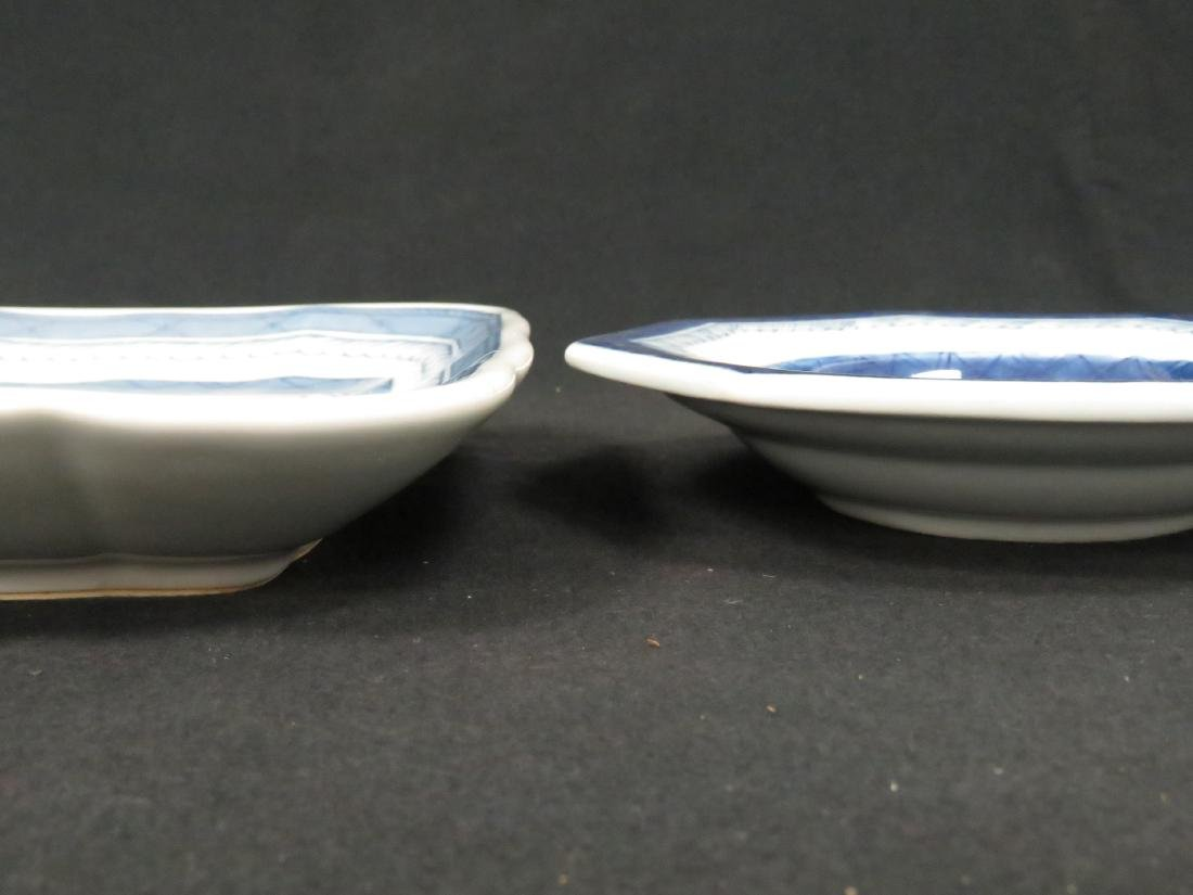 LOT (2) CHINESE EXPORT PLATES INCLUDING OCTAGONAL AND - 2