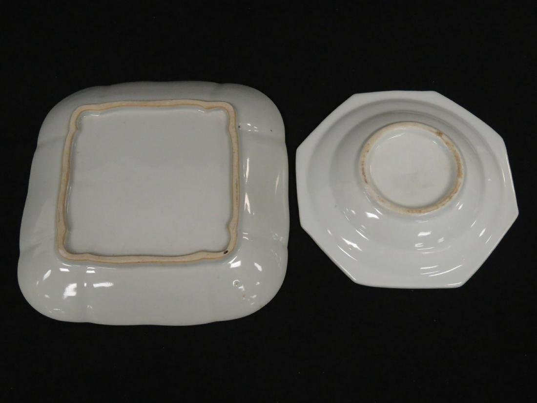 LOT (2) CHINESE EXPORT PLATES INCLUDING OCTAGONAL AND - 3