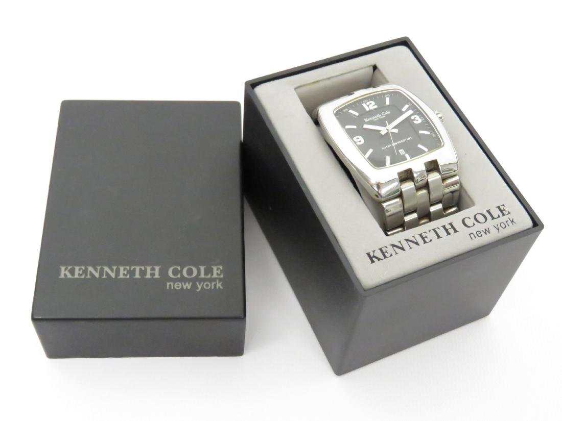 KENNETH COLE STAINLESS QUARTZ DATE-JUST WRISTWATCH WITH - 2