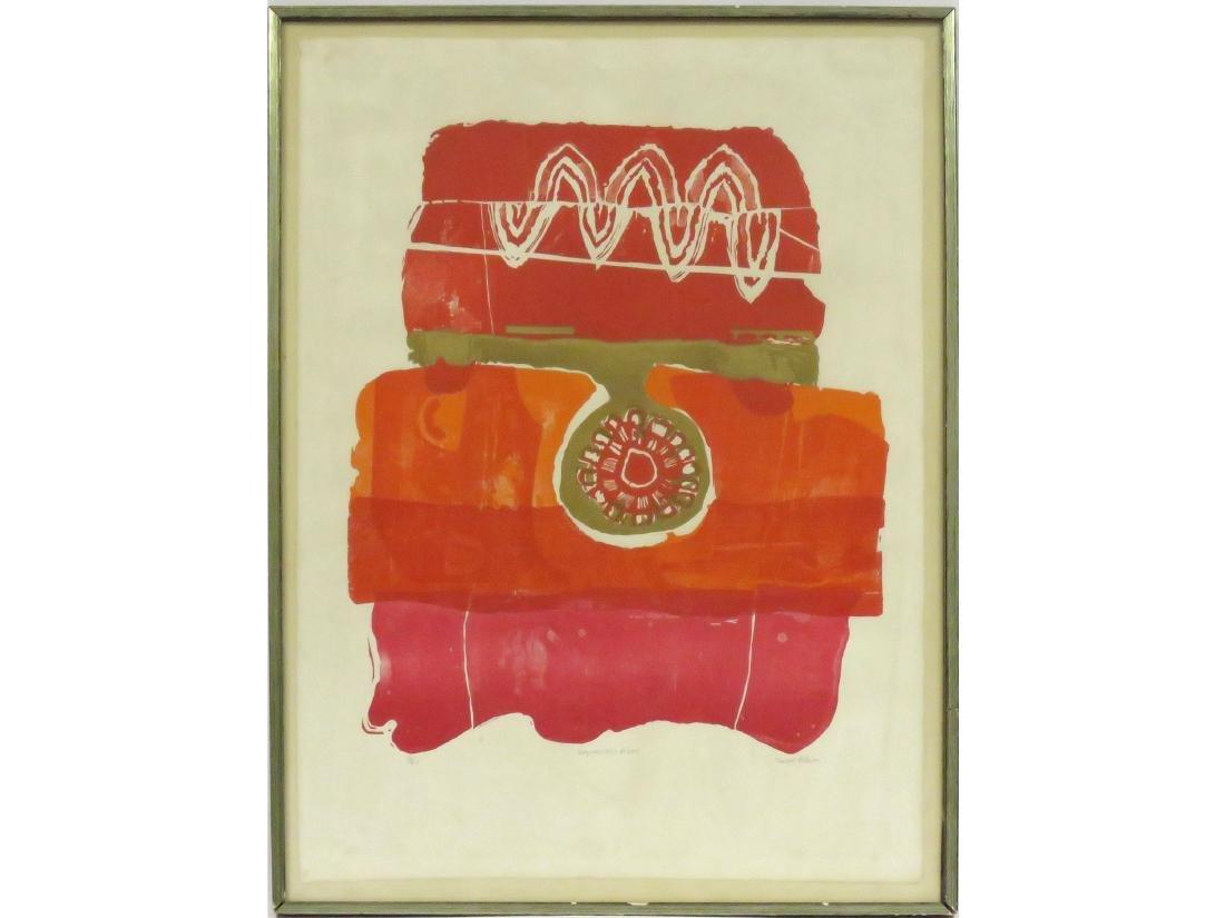 TREVOR ALLEN (BRITISH 1939-2008), SERIGRAPH, ABSTRACT,