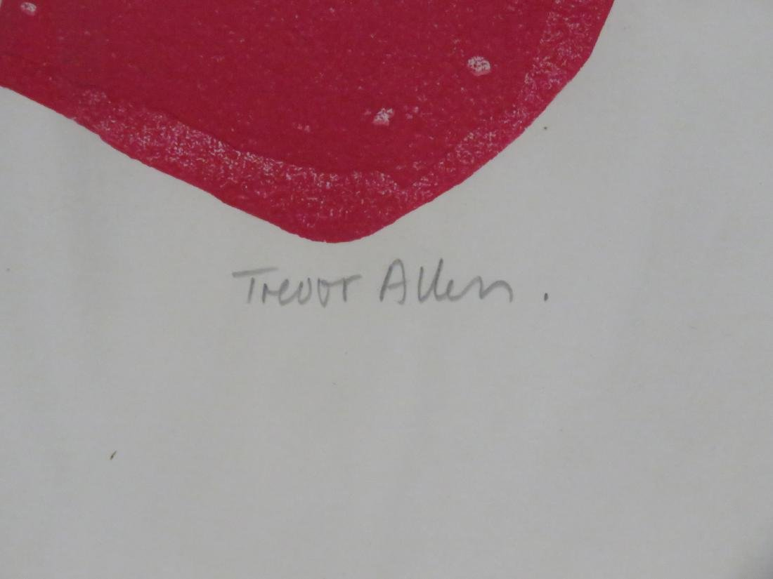 TREVOR ALLEN (BRITISH 1939-2008), SERIGRAPH, ABSTRACT, - 2