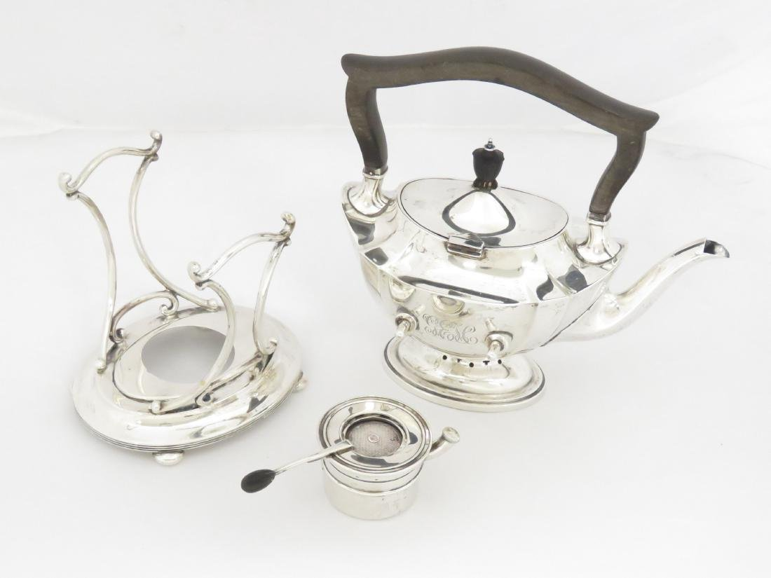 """SET (5) GORHAM """"PLYMOUTH"""" STERLING TEA SERVICE, #A2415, - 4"""