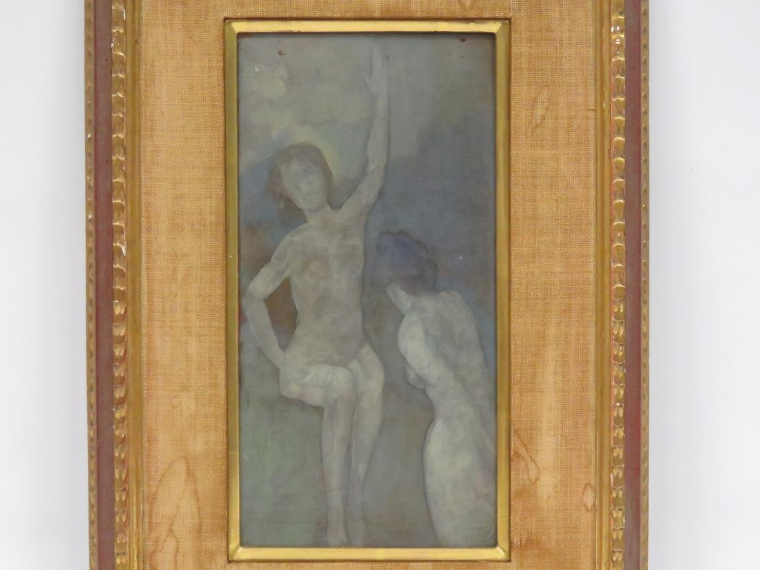 ARTHUR BOWEN DAVIES (AMERICAN 1862-1928), TEMPERA ON - 2