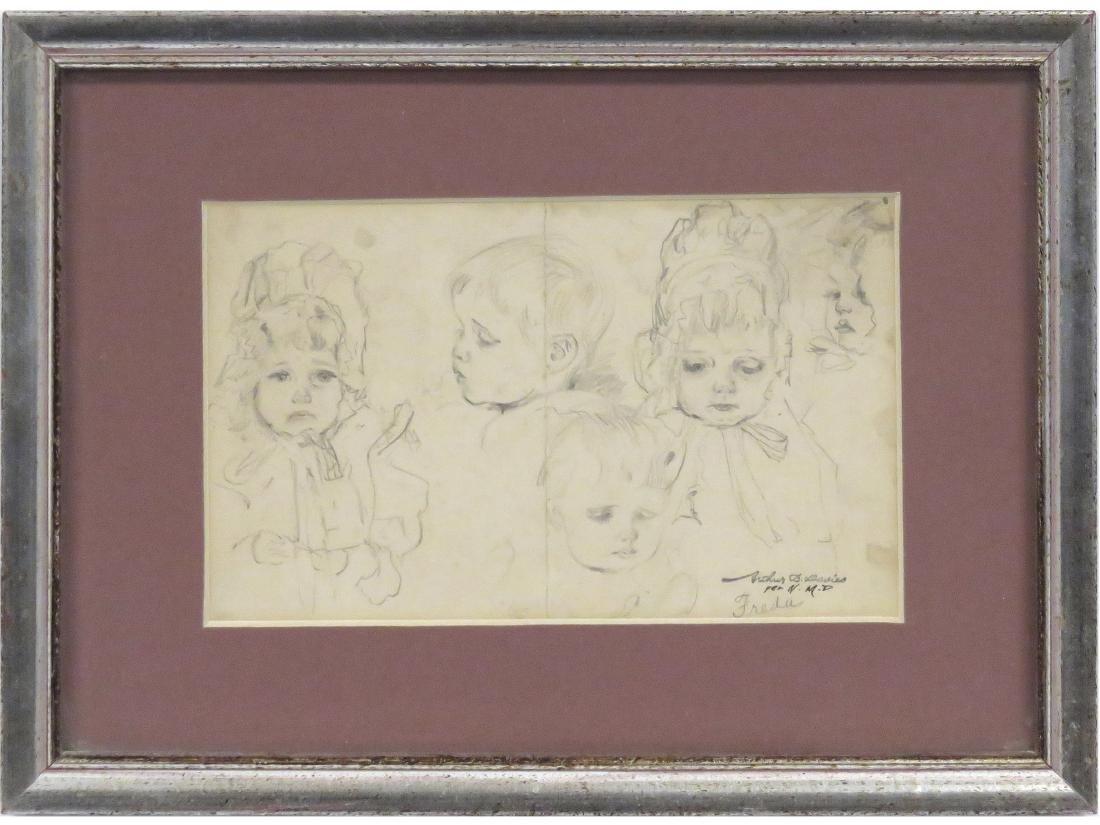 ARTHUR BOWEN DAVIES (AMERICAN 1862-1928), GRAPHITE ON