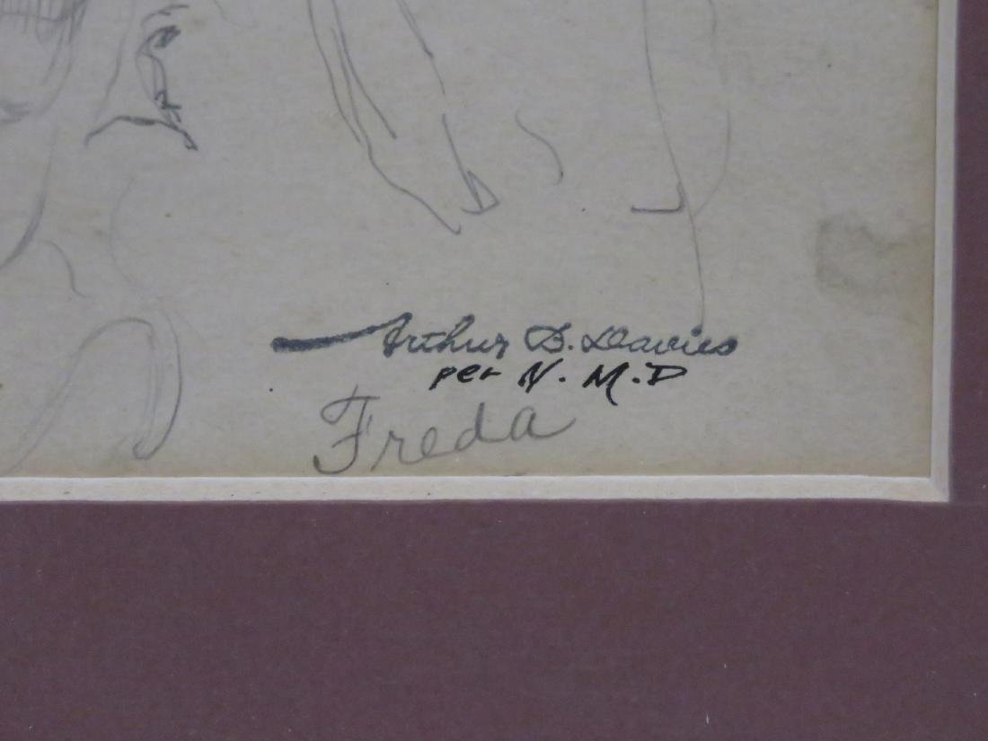 ARTHUR BOWEN DAVIES (AMERICAN 1862-1928), GRAPHITE ON - 2