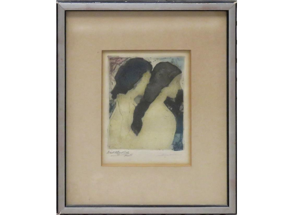 ARTHUR BOWEN DAVIES (AMERICAN 1862-1928), MONOPRINT ON