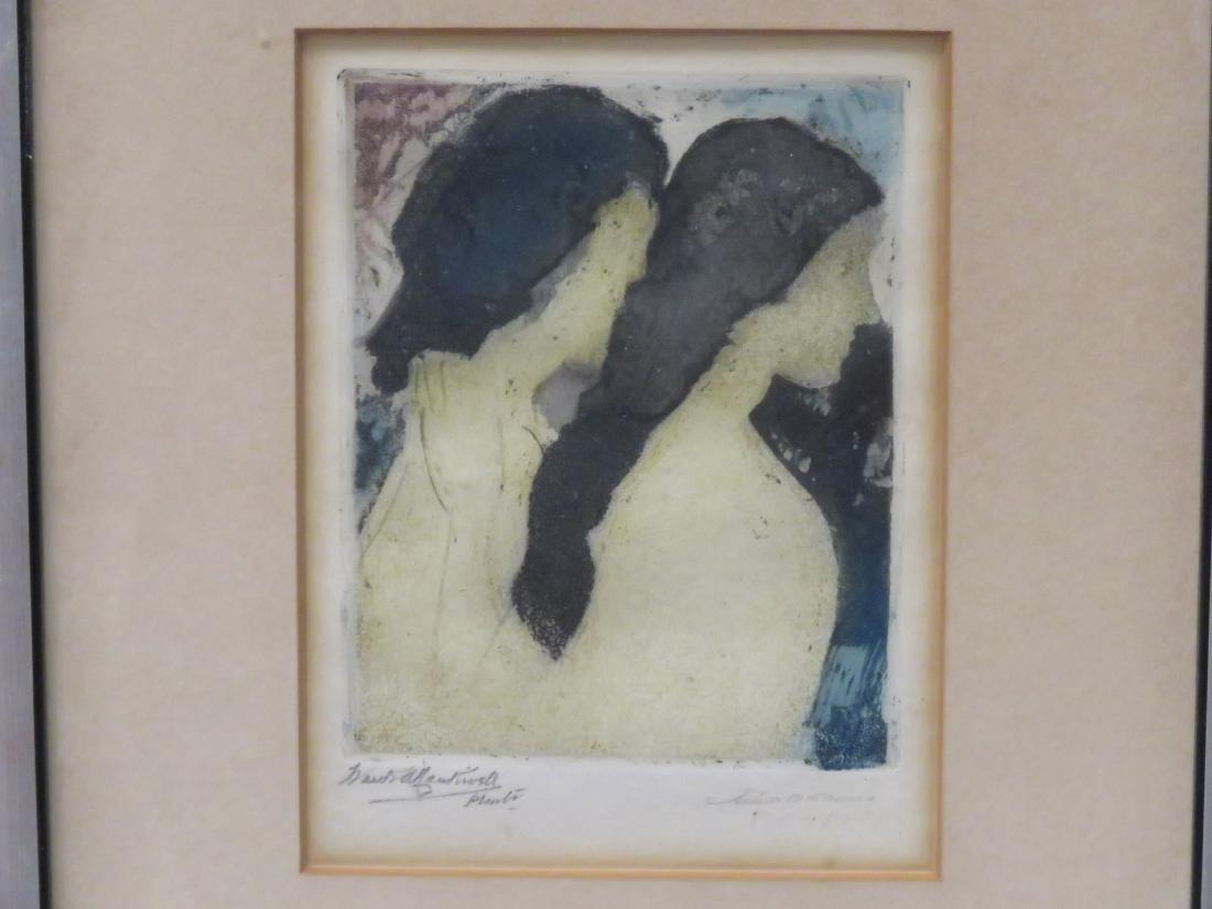 ARTHUR BOWEN DAVIES (AMERICAN 1862-1928), MONOPRINT ON - 2