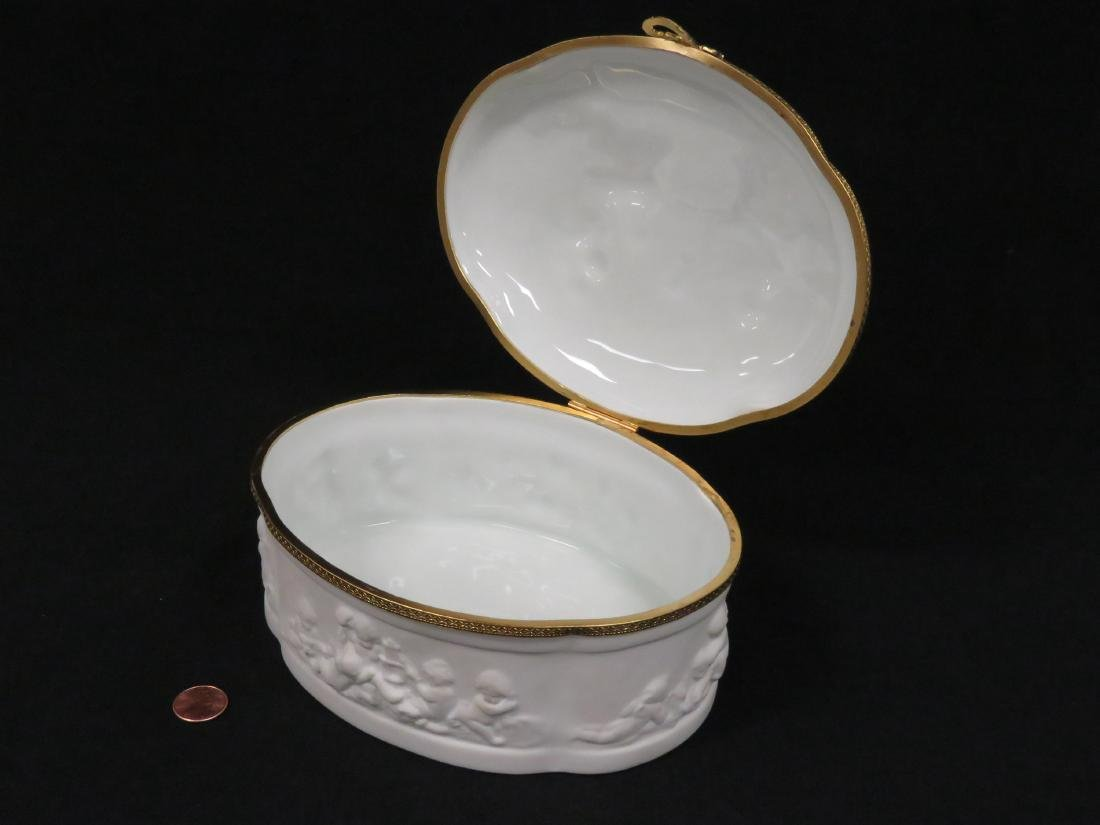 LIMOGES BISQUE PORCELAIN AND GILT METAL MOUNTED DRESSER - 2