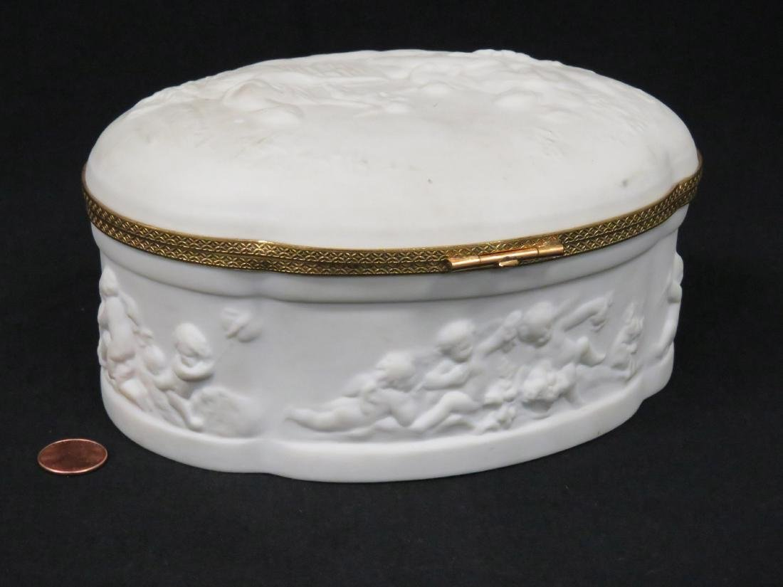 LIMOGES BISQUE PORCELAIN AND GILT METAL MOUNTED DRESSER - 3