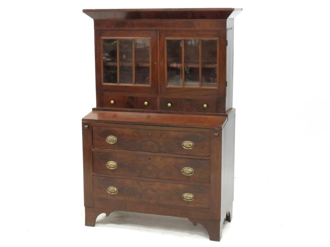 FEDERAL MAHOGANY SECRETARY/DESK, 19TH CENTURY. HEIGHT