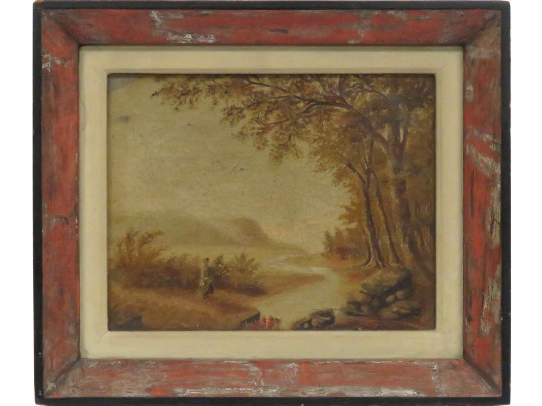 AMERICAN SCHOOL (19TH CENTURY), OIL ON CANVAS, FIGURE