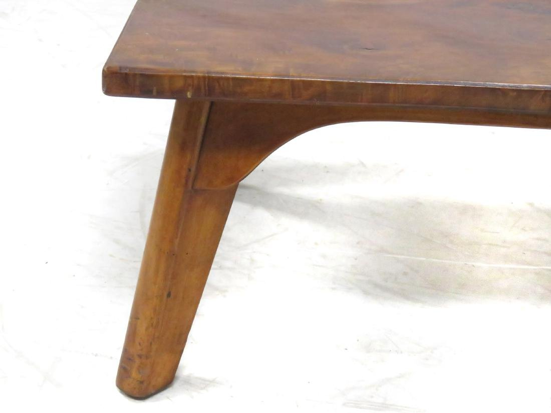 CRAFTSMAN MADE BURL MAHOGANY LOW TABLE, C.1930. HEIGHT - 2