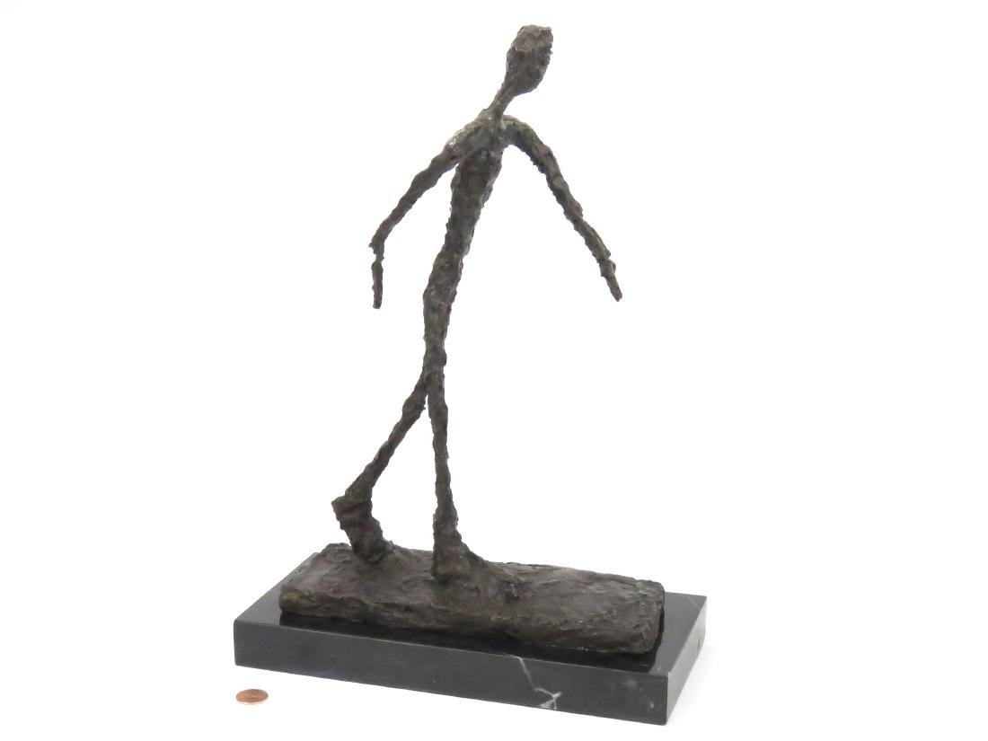 SIGNED GIACOMETTI, BRONZE WALKING MAN. HEIGHT 15 1/4""
