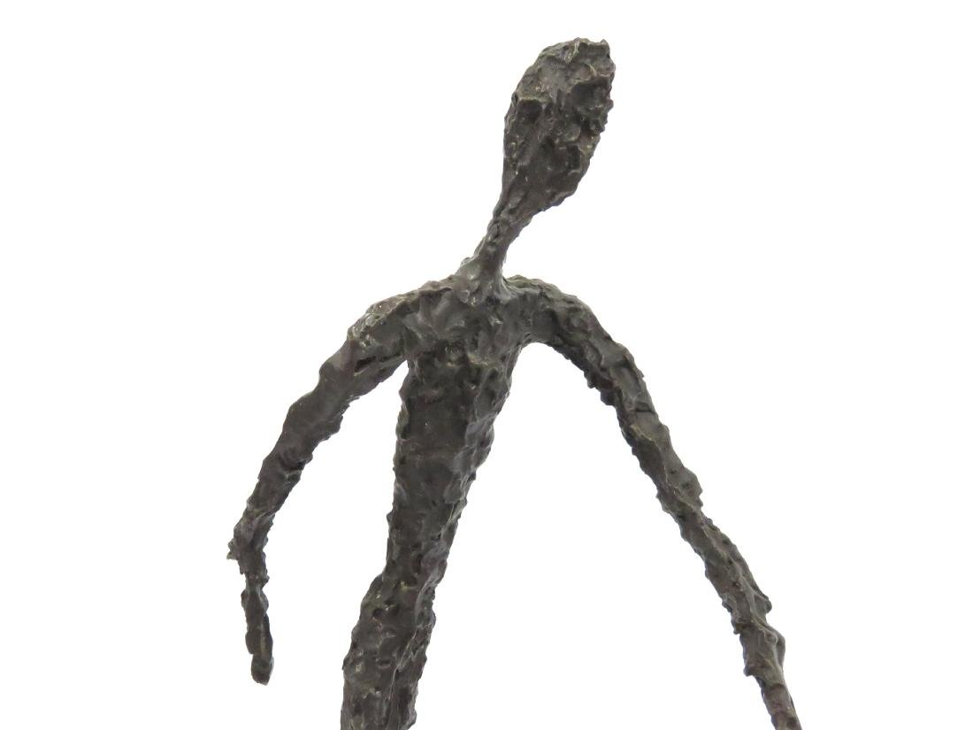 "SIGNED GIACOMETTI, BRONZE WALKING MAN. HEIGHT 15 1/4"" - 2"