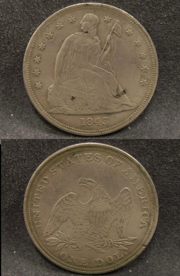 2005: 1843 LIBERTY SEATED DOLLAR COIN