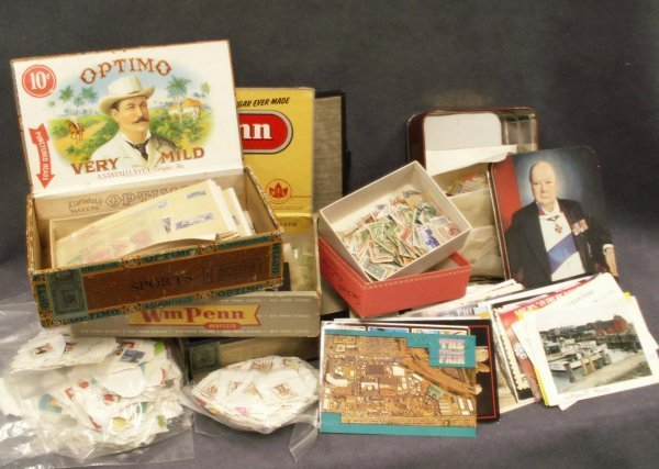 2006: BOX INCLUDING 1000'S OLDER U.S./FOREIGN STAMPS