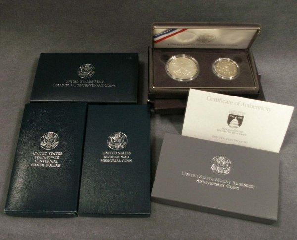 2011: (5) ASSORTED U.S. COMMEMORATIVE PROOF COIN SETS