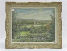 CONTINENTAL SCHOOL 20TH CENTURY PASTEL LANDSCAPE