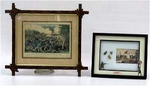 LOT 2 INCLUDING CURRIER  IVES LITHOGRAPH THE