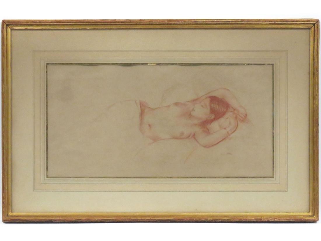 LEON KROLL (AMERICAN 1884-1974), SANGUINE CHALK, STUDY