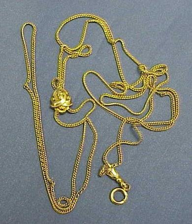2: GOLD FILLED WATCH CHAIN WITH YG SLIDE