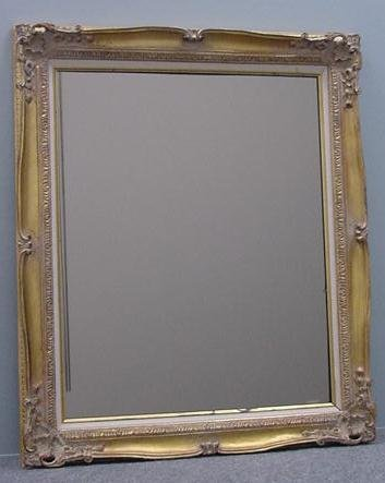 13: FRENCH STYLE CARVED/GILT MIRROR